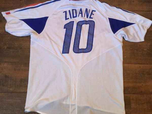 2004 2006 France Zidane Away Football Shirt Adults XL